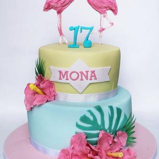 FLAMINGOS CAKE - Cake by Agatha Rogowska ( Cakefield Avenue)