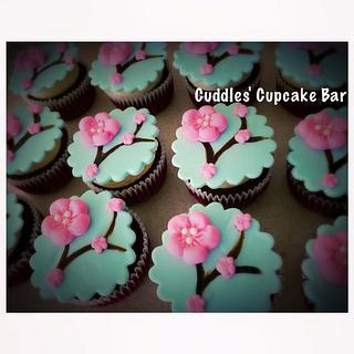 Cherry Blossom - Cake by Cuddles' Cupcake Bar