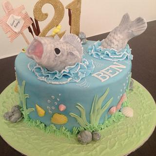 Fishing - Cake by Suzanne