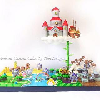 Super Mario Map Cake - Cake by Tabi Lavigne