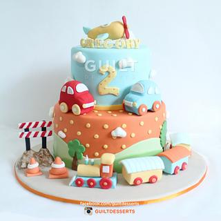 Transportation Themed Cake