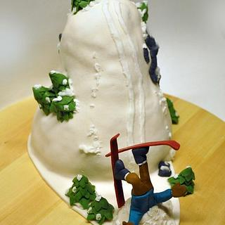 Freeride mountain cake