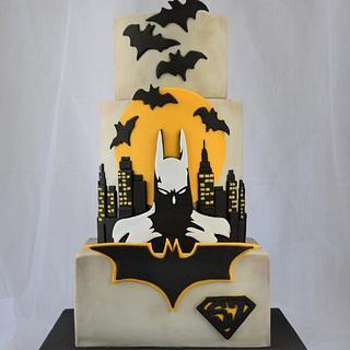 Batman Cake - Baking for Superjosh Collaboration