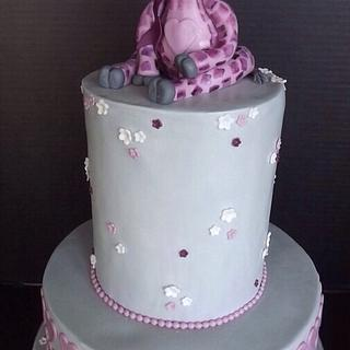Purple Baby Giraffe cake