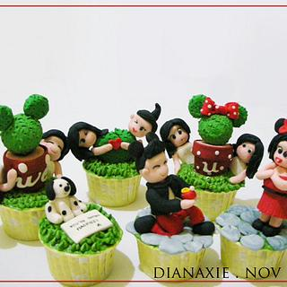 Mickey and Minnie Mouse cupcakes - Cake by Diana