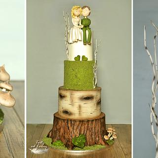 Forest wedding cake.