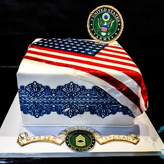 Military cake for the girls!