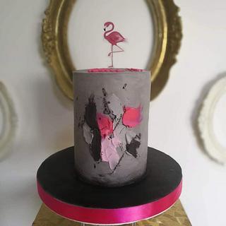 Art flamongo cake