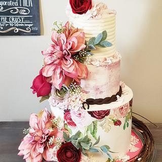 Burgundy/Dusty Rose Rustic Styled Wedding