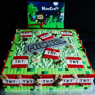 MineCraft for Michel - Cake by Jacqueline