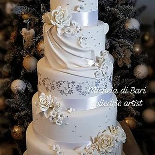 Romantic wedding cake  - Cake by Michela di Bari