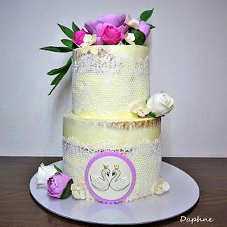 Wedding cake - naked - Cake by Daphne