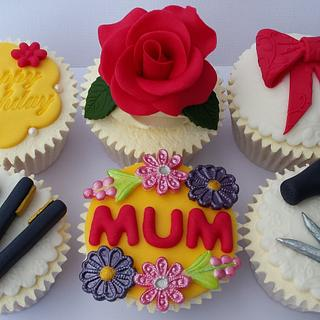 Mum Celebration Birthday Themed Cupcakes