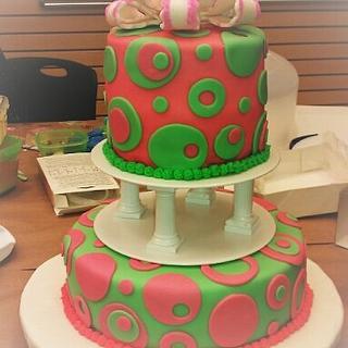my 1st tiered cake