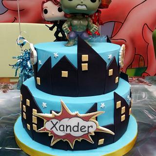 superhero cake - Cake by Little monsters Bakery