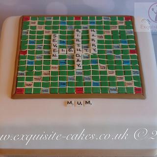 Scrabble board cake - Cake by Natalie Wells