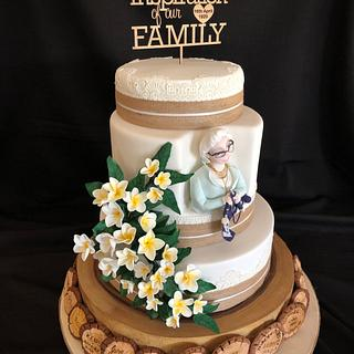 Nan's 90th 'Family etched' Birthday Cake
