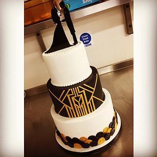 Art Deco Wedding Cake - Cake by Cutsie Cupcakes