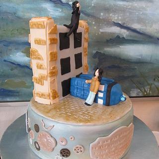 Wholock (Dr. Who/Sherlock) Theme Cake
