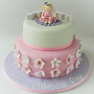 Flower Fairy Christening Cake - Cake by Candy's Cupcakes