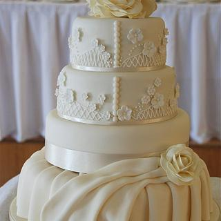 Designer Dress Wedding Cake - Benjamin Roberts