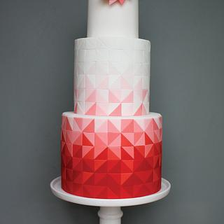 Triad Cake ~ Red Ombre