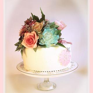 Vintage posie cake