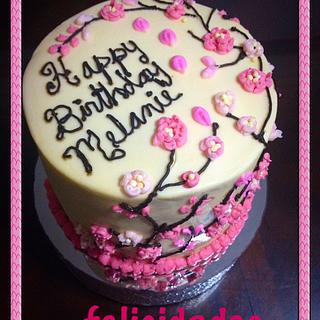 Cherry blossom cake  - Cake by Angela de Ramos
