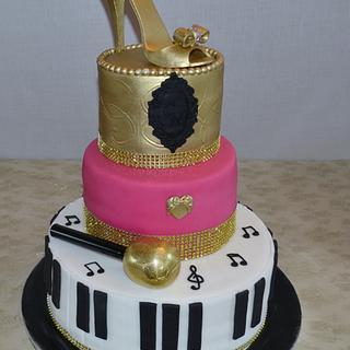 Showbiz 40th Birthday Party Cake.