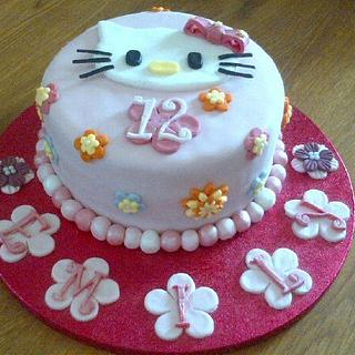 MY FIRST HELLO KITTY CAKE! - Cake by Debbie Cousins