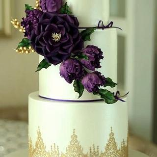 Alluring Purple - Wedding cake - Cake by Rumana Jaseel