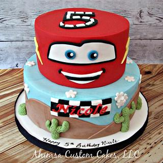 Pixar Cars cake for Icing Smiles, Inc