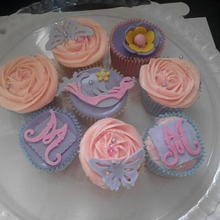 Lilac and Pink Cupcakes