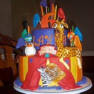 Madagascar 3 birthday cake