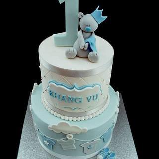 Baby Bear 1st Birthday Cake