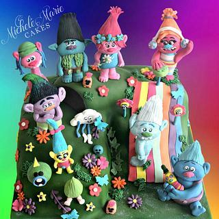 Dreamworks Trolls Cake