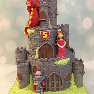 Castle, Knight, Dragon & Princess