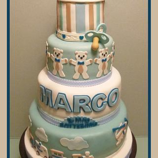 Baptism cake for boy