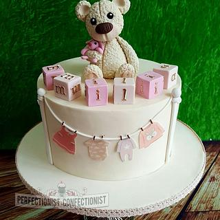 Emilia - Teddy Bear Christening Cake