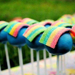 Rainbow Cake Pops