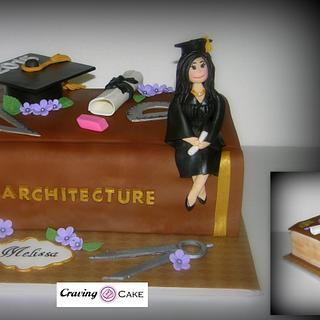 Architect Graduation Cake - Cake by Craving Cake