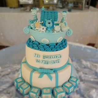 Ark Christening cake
