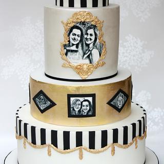 Rococo 18th birthday cake