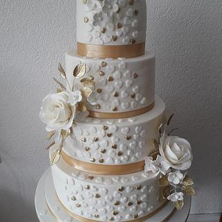 Lovely weddingcake - Cake by Backelien
