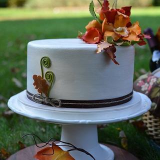 Fall Foliage Cake