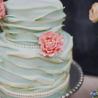 Vintage French Garden Cake