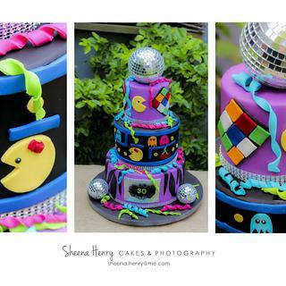 80's themed cake - Cake by Sheena Henry
