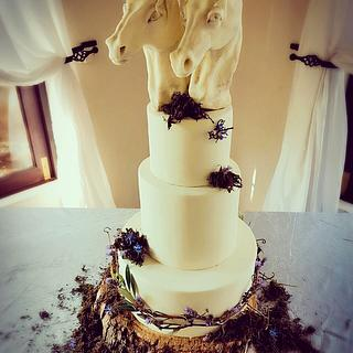 A rustic wedding  - Cake by VictoriaBean