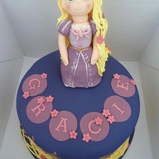 Rapunzel Inspired Cake - Cake by Sian