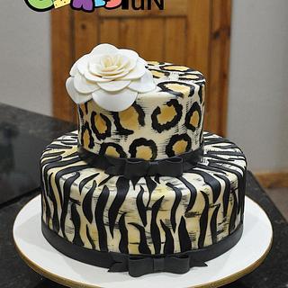 Animal print Birthday Cake - Cake by Cakes For Fun